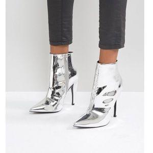 ASOS metallic ankle boots